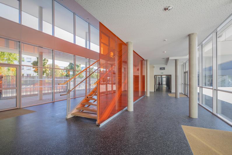 Vue intérieure du collège Lucie Aubrac
