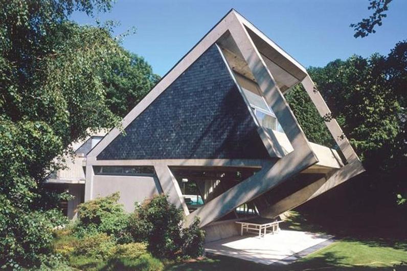 Maison Drusch à Versailles (1963-1966), architecte Claude Parent