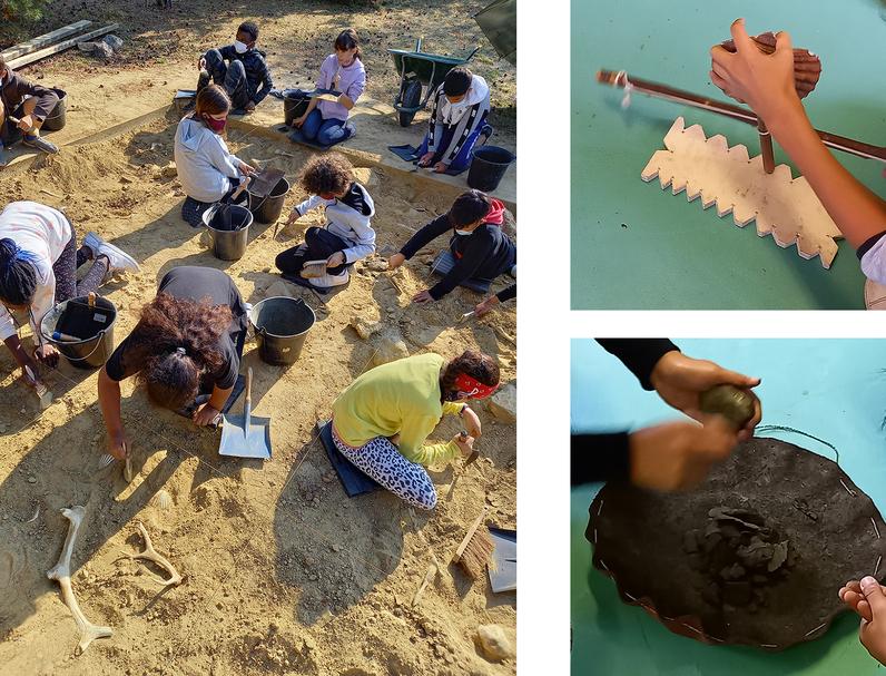 Apprentis archéologues au Parc des Hautes Bruyères, à Villejuif