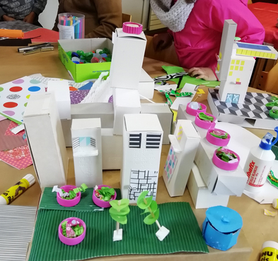 Atelier maquette réalisé par les enfants