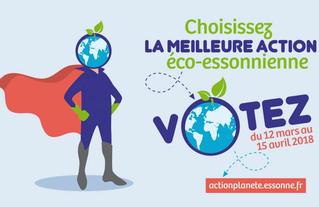 Action pour la planète ! Votez pour choisir la meilleur action éco-essonnien.