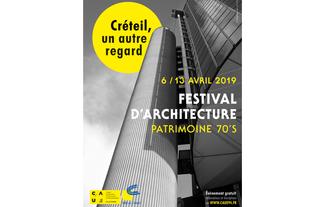Affiche festival d'architecture à Créteil - avril 2019