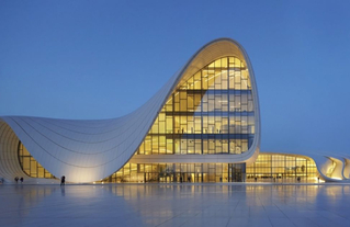 Centre culturel Heydar-Aliyev à Bakou (Azerbaïdjan), architecte Zaha Hadid